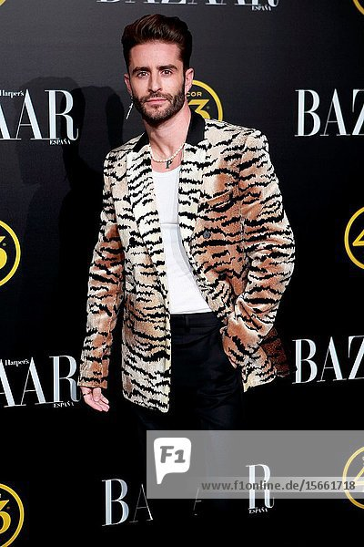 Pelayo Diáz attend the Harper's Bazaar awards in Palacio de Santoña  Madrid (Spain).November 5  2019