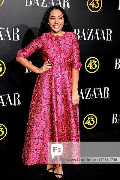 Luna García attend the Harper's Bazaar awards in Palacio de Santoña  Madrid (Spain).November 5  2019..