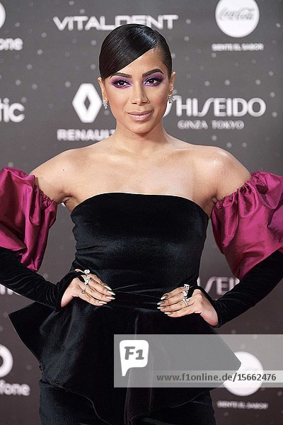 Anitta attends Los 40 Music Awards at Wizink Center on November 8  2019 in Madrid  Spain