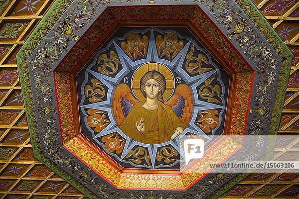 Ceiling Fresco  Holy Monastery of Varlaam  Meteora  UNESCO World Heritage Site  Thessaly  Greece