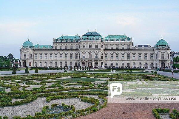 The Upper Belvedere  Vienna  Wien  Austria  Europe.