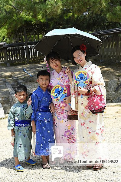 Japanese people wearing yukata  Nara  Japan   Asia.