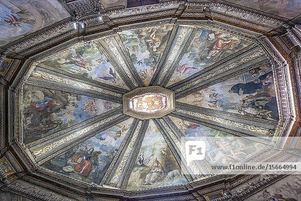 Frescoes by Antonio Zapata  Ermita de San Saturio  Soria  Comunidad Autónoma de Castilla-León  Spain  Europe.