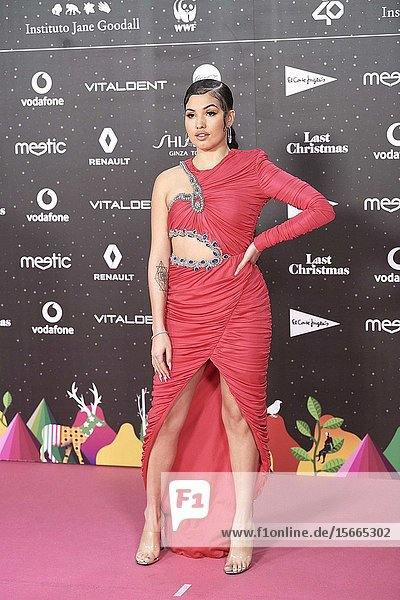 Mabel attends Los 40 Music Awards at Wizink Center on November 8  2019 in Madrid  Spain