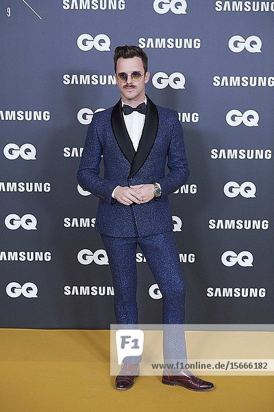 Aldo Comas attends GQ Men of the Year Awards 2019 at Palace Hotel on November 21  2019 in Madrid  Spain