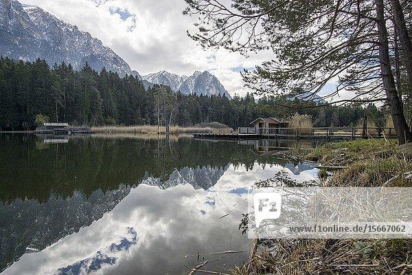 Fie lake  Laghetto di Fie' - Sciliar  Dolomiti  Italian Alps.