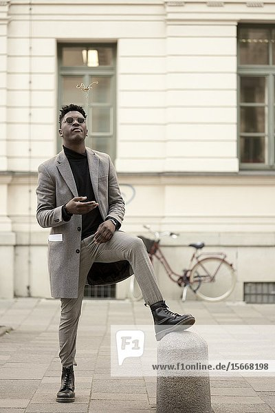 Young man  in Munich  Germany.