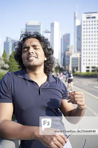 Portrait of Indian man. Frankfurt  Germany.