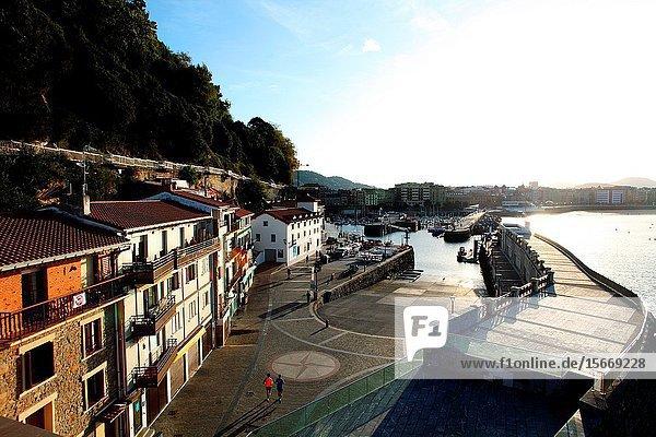 View of the port from the Aquarium San Sebastián Gipuzkoa Basque Country Spain