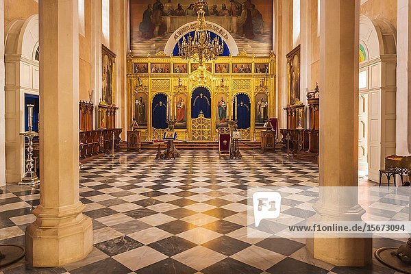 The altar in the Church of the Holy Annunciation  Dubrovnik  Dalmatian Coast  Croatia.