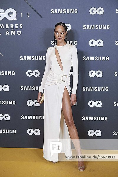 Godeliv attends GQ Men of the Year Awards 2019 at Palace Hotel on November 21  2019 in Madrid  Spain