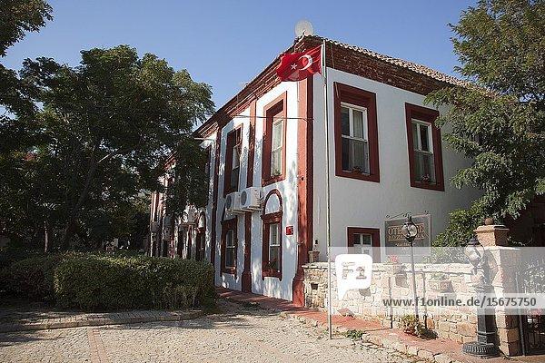 Traditional houses of the ancient Tenedos todays Bozcaada island  Bozcaada  Canakkale  Aegean Region  Turkey  Europe