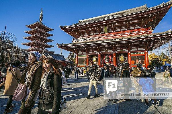 Sensoji Buddhist Temple. Asakusa Neighborhood. Tokyo. Japan.