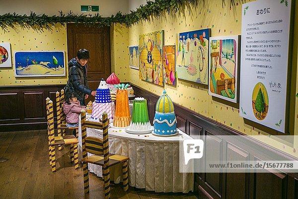 Ghibli museum  the animation and art museum of Miyazaki Hayao's Studio Ghibli  one of Japan's most famous animation studios. Mitaka city  Kanto region  Tokyo  Japon.