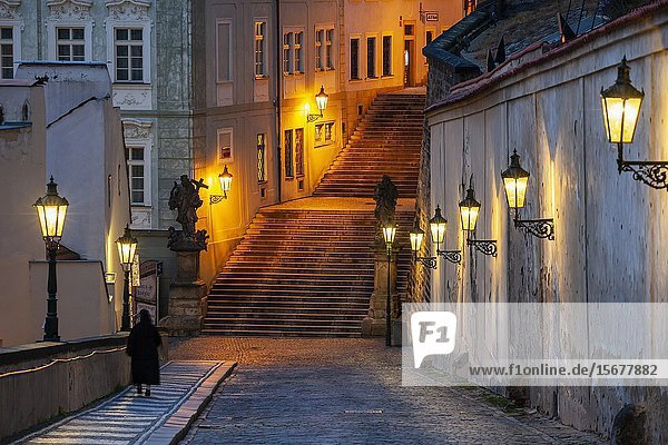 Dawn at Hradcany in Prague  Czechia.
