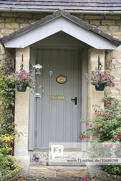 Traditional Cotswold cottages in England  UK. Bibury is a village and civil parish in Gloucestershire  England.