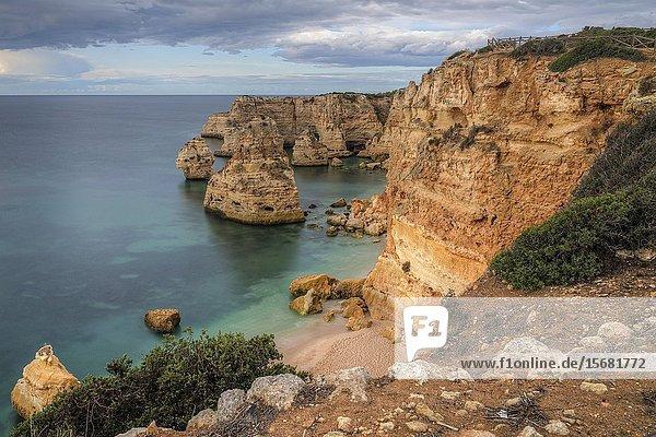 Praia da Marinha  Lagoa  Algarve  Portugal  Europe.