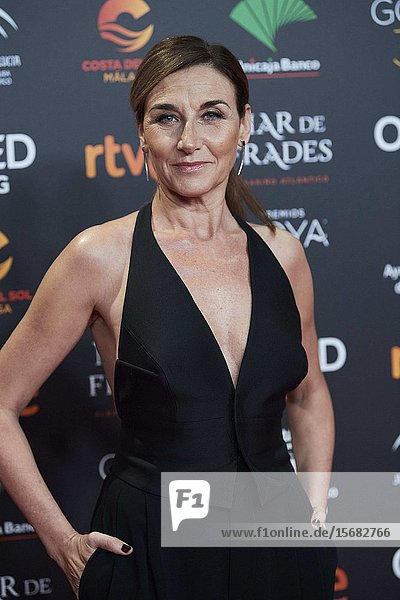 Mona Martinez ('Adios') attends Candidates to Goya Cinema Awards 2018 Dinner Party at Florida Park on December 16  2019 in Madrid  Spain