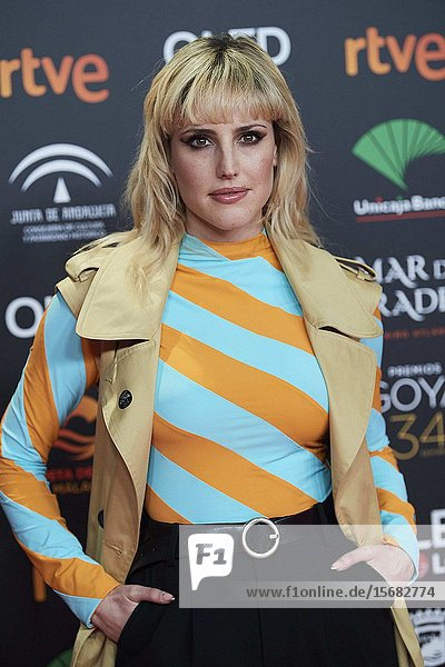 Natalia de Molina ('Adios') attends Candidates to Goya Cinema Awards 2018 Dinner Party at Florida Park on December 16  2019 in Madrid  Spain