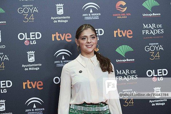 Carmen Arrufat ('La inocencia') attends Candidates to Goya Cinema Awards 2018 Dinner Party at Florida Park on December 16  2019 in Madrid  Spain