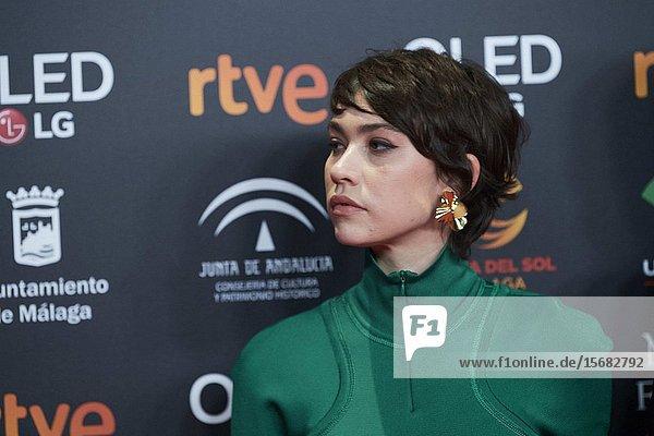 Greta Fernandez ('La hija de un ladron') attends Candidates to Goya Cinema Awards 2018 Dinner Party at Florida Park on December 16  2019 in Madrid  Spain