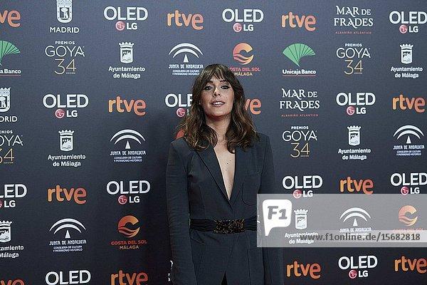 Belen Cuesta ('La trinchera infinita') attends Candidates to Goya Cinema Awards 2018 Dinner Party at Florida Park on December 16  2019 in Madrid  Spain
