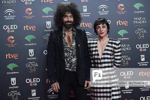 Ara Malikian  Nata Moreno ('Ara Malikian: Una vida entre las cuerdas') attends Candidates to Goya Cinema Awards 2018 Dinner Party at Florida Park on December 16  2019 in Madrid  Spain