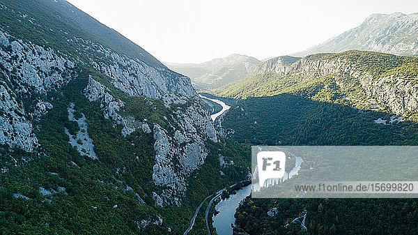 River passing through mountains