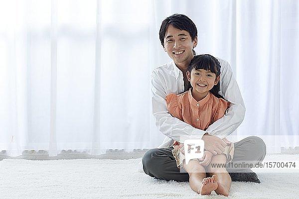 Happy Japanese family