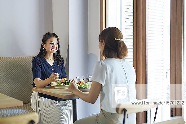 Japanese women at a restaurant