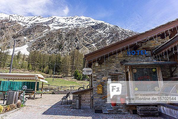 Italy  Aosta Valley  Valnontey  La Barme hotel and restaurant
