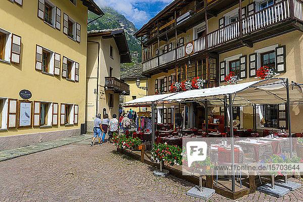 Italy  Aosta Valley  Gressoney-Saint-Jean  downtown