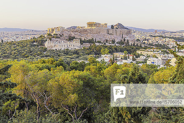 Acropolis of Athens,  UNESCO World Heritage Site,  Athens,  Greece,  Europe