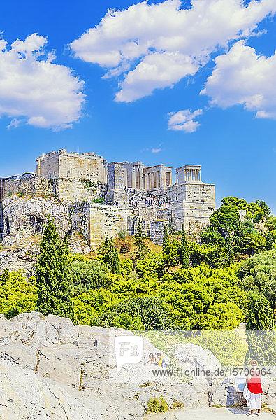 Acropolis of Athens  UNESCO World Heritage Site  Athens  Greece  Europe