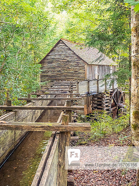 Old mill building  Cades Cove  Great Smoky Mountains National Park  Tennessee  United States of America  North America