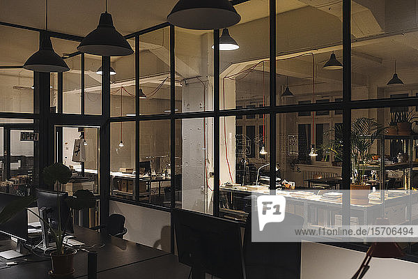Interior of a loft office