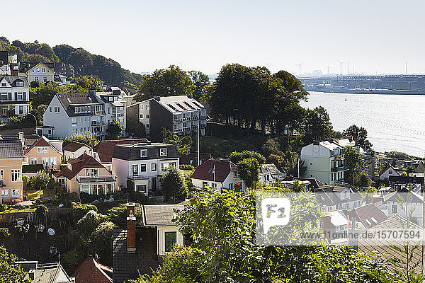 Germany  Hamburg  Blankenese  Houses by Elbe river