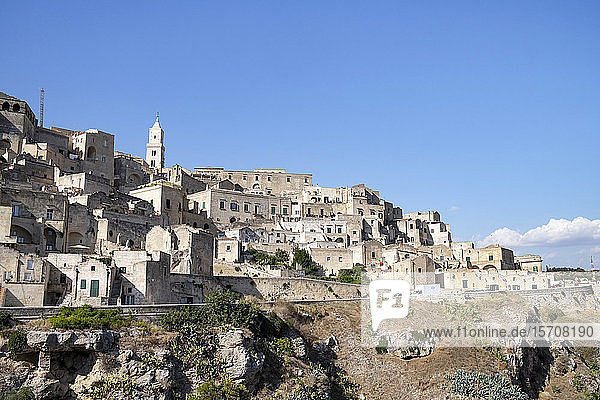 Italien  Basilikata  Matera  Ansicht der Altstadt