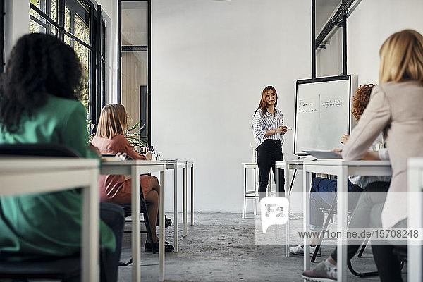 Workshop in conference room