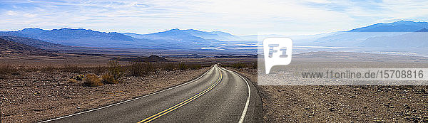 USA  California  Panorama of empty highway in Death Valley