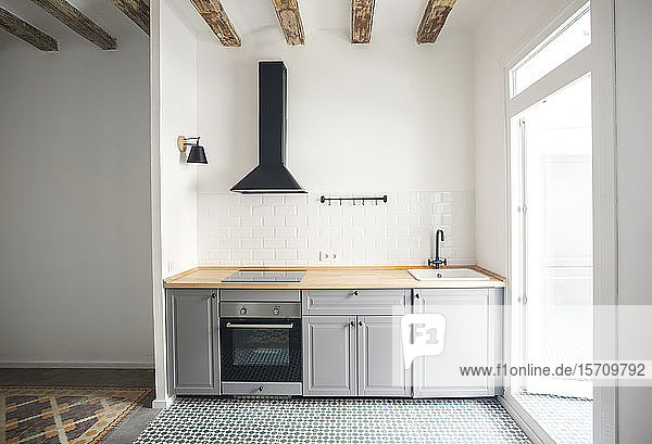 Modern kitchen unit in an apartment in Barcelona  Spain