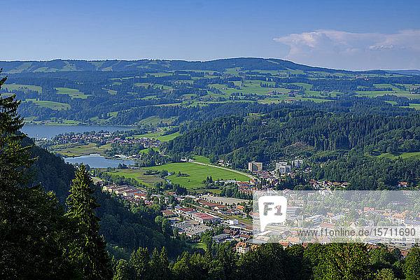 Deutschland,  Bayern,  Immenstadt,  Bergstadt vom Mittagberg aus gesehen