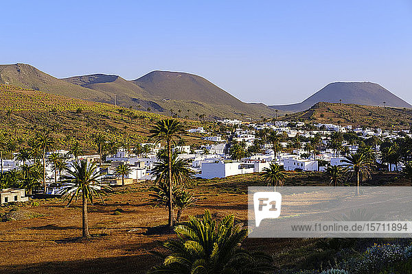 Spain  Canary Islands  Haria  Village in Valley of Thousand Palms