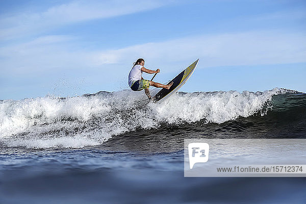 SUP surfer  Bali  Indonesia