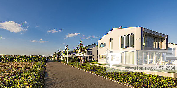 Germany  Baden-Wuerttemberg  Ulm  district Lehr  New houses