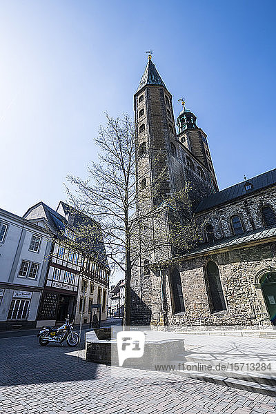 Germany  Lower Saxony  Goslar  Low angle view of Market Church Saint Cosmas and Damian