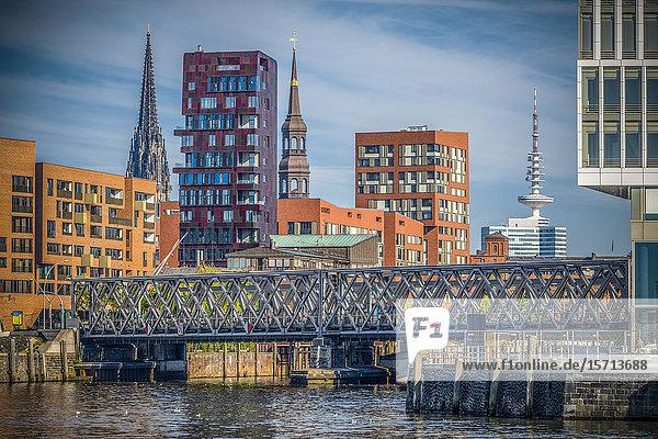 Magdeburg Bridge  HafenCity  Hamburg  Germany  Europe