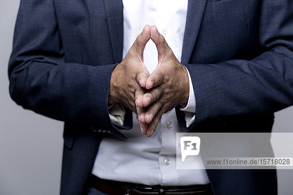 Hands of businessman  close-up