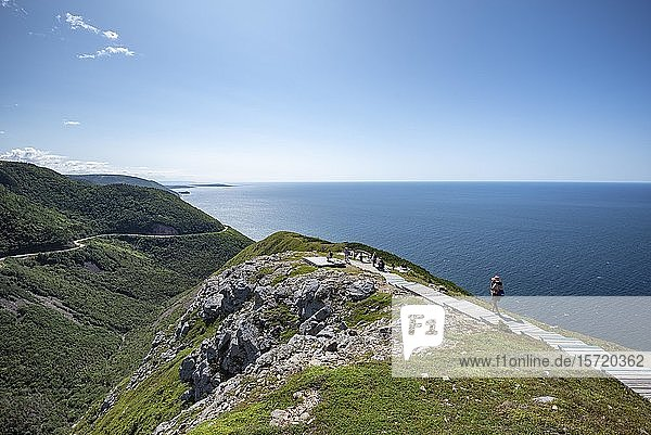 Der Skyline Trail im Cape Breton Highlands Nationalpark  Nova Scotia  Kanada  Nordamerika