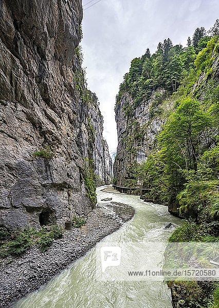 Aareschlucht im Haslital  Berner Oberland  Meiringen  Kanton Bern  Schweiz  Europa